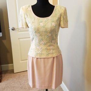 Adrianne Papell vintage skirt set